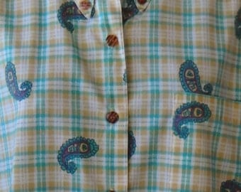 80s, 90s, plaid and paisley, shirt, Caberet