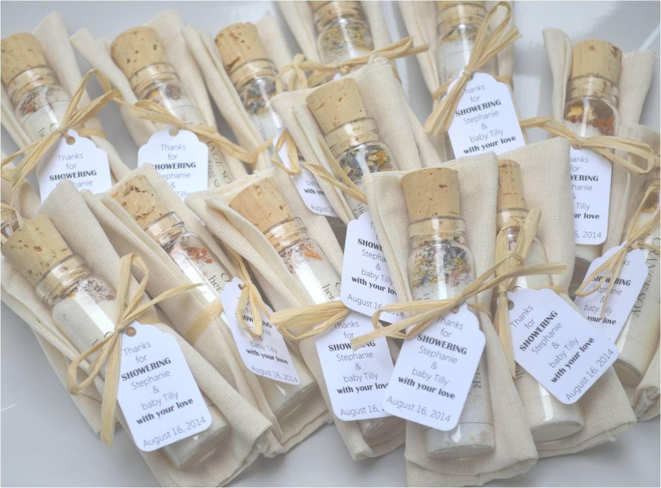 BATH SALT VIAL With Bag Bridal Shower Favors Wedding