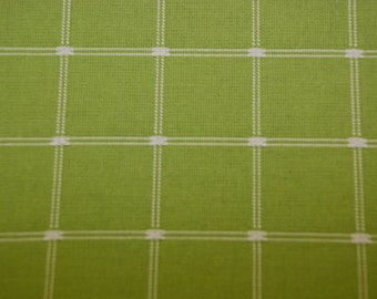 Grass Green Check Fabric - Green Upholstery - Green Drapery - Upholstery Fabric By The Yard