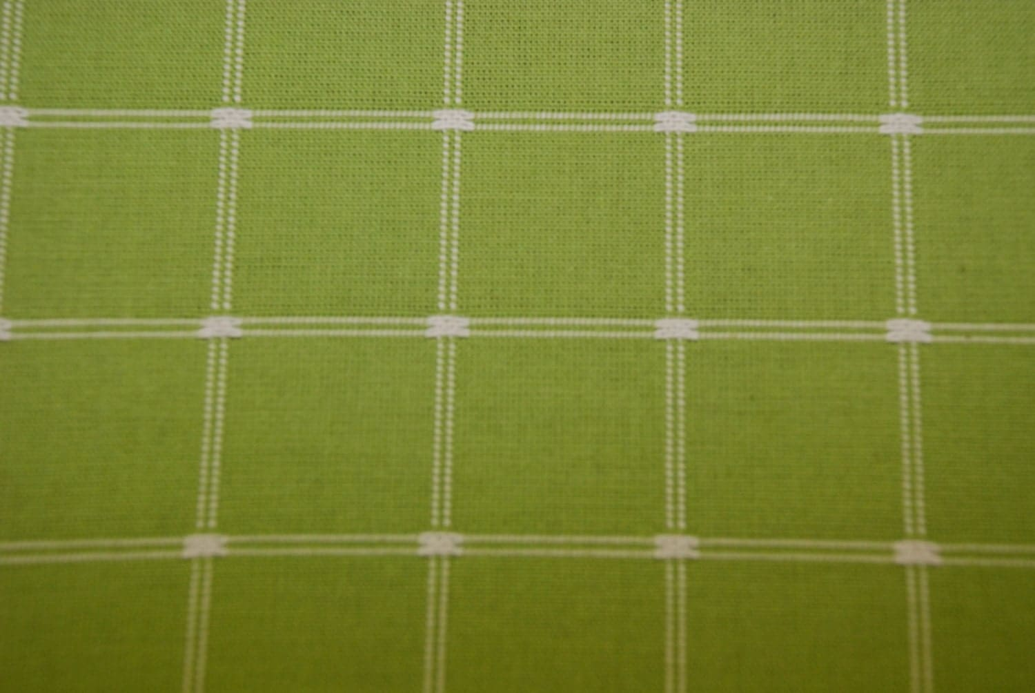 Grass Green Check Fabric Green Upholstery Green Drapery