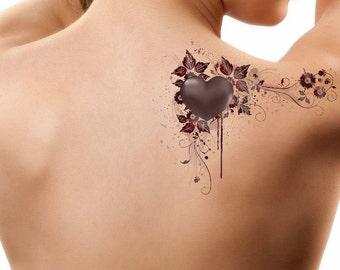 Temporary Tattoo Heart Waterproof Fake Tattoo Thin Durable