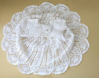Long crochet christening dress White Baptism dress Crochet dress Gift for baby  for goddaughter Christening gift Baby dress gift for kids
