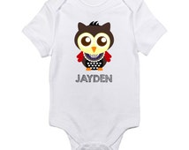 Personalized Baby Boy Shirt, Custom Toddler Shirt, Baby Boy Announcement, Pregnancy Reveal, Owl Tshirt, Newborn Outfit, Boy Clothes