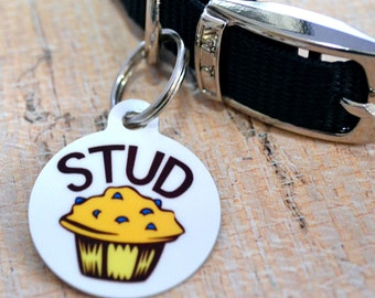 Stud Muffin Funny Dog Tag - Luggage Key Chain, Dog Tag, Pet Identification, Cat Collar