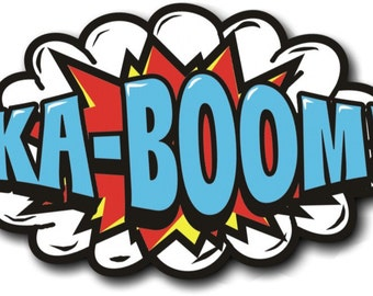KA-BOOM - Cartoon Photo Booth Prop   013-652