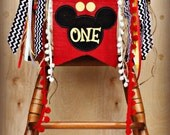Mickey Mouse Birthday Banner...Clubhouse...Garland...I am ONE...Birthday AGE Highchair...Ragtie...Decorations..Party