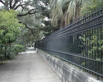 Savannah Photography, Savannah Gate Architecture, Savannah Georgia Rod Iron Gates, Savannah Georgia Photos, Savannah Georgia Wall Art Prints