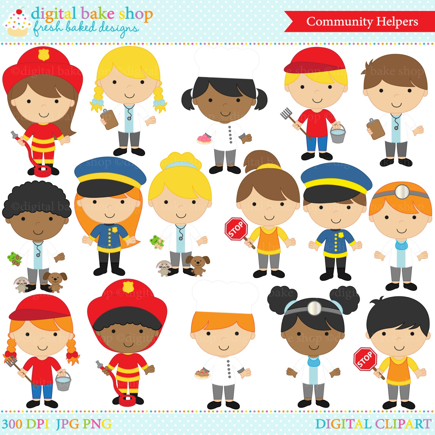 clipart clip art digital community helpers police doctor