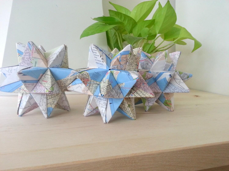 Large Decorative Origami Ball Upcycled Home Decor Upcycled