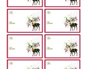 FREEBIE - Free Download Printable Holiday Cards - CHRISTMAS DEER - Download  Print and Cut