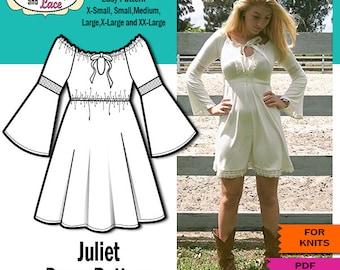 Juliet Bell Sleeve Dress PDF SEWING PATTERN