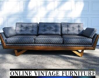 RESTORED Adrian Pearsall designer Sofa Couch Craft Assoicates vintage mid century midcentury mid-century modern Danish Knoll scan design