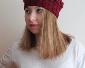 HAT BEANIE! Gift for her. Winter beanie.Handmade cable hat, ready to shipping.