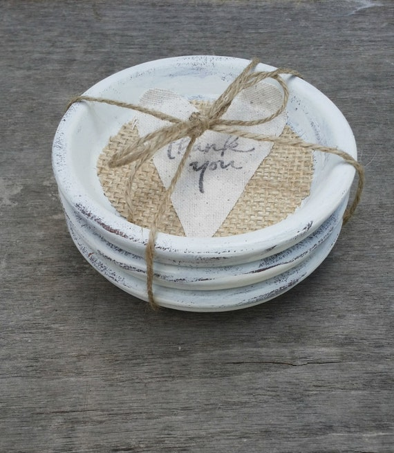Shabby Chic Terra Cotta Coaster Set Of 4 Shabby Chic Wedding