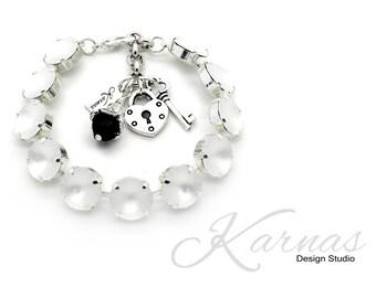 BLACK TIE AFFAIR 12mm Crystal Rivoli Bracelet Made With Swarovski Elements *Pick Your Metal *Karnas Design Studio *Free Shipping*