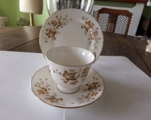 Colclough china trio with the Avon pattern