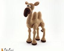 Crochet camel, OOAK crochet animal, stuffed art toy, amigurumi camel - Camel Ibrahim