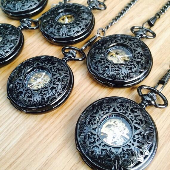groomsmen pocket set of 6 by engravedpocketwatch on etsy