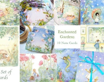 Special Gift, Note Card Set of 10 Cards and Envelopes
