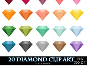 Diamonds Clipart Vector Gems Clip Art Digital Gemstone Engagement Wedding Clipart Invitations Card Making Digital Scrapbooking Bridal Shower
