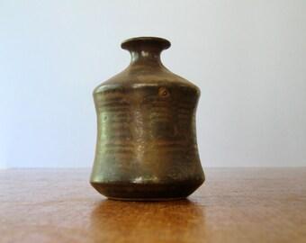 Vintage Ceramic Studio Pottery Bud Vase / Weed Pot