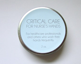 Critical Care Hand Salve. The Best Stuff for Nurses.