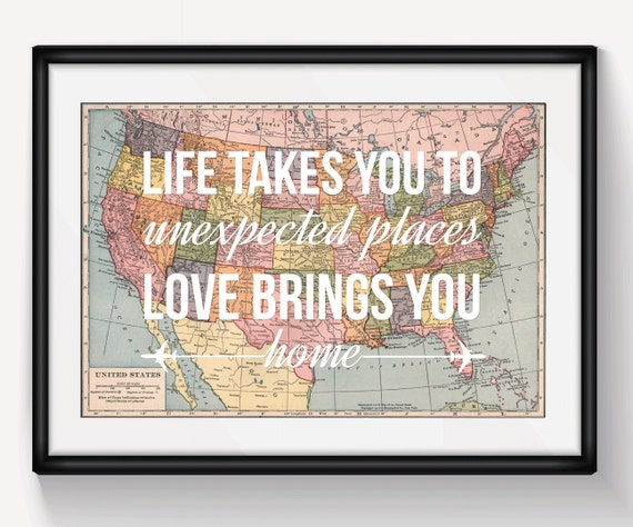 united states map wall art valentines gift map of united. Black Bedroom Furniture Sets. Home Design Ideas