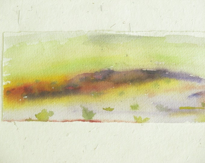 Watercolor landscape abstract: Watercolor on paper