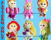 Lily and outfit Series 2 (7 styles) : Changeable Clothes Crochet Doll and 7 styles Outfits Pattern ( PDF only )