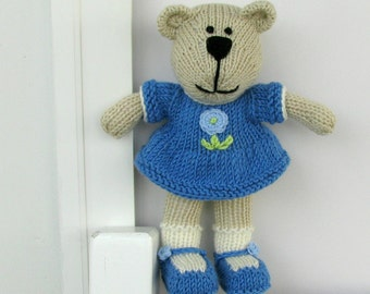 Stuffed Animal Bear - Hand Knit Bear - Stuff Animal Toy - Stuff Bear - Kids Toys - Knit Toy - Stuff Toy - Plush Doll - Child Toy Mia