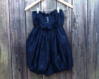 Edwardian Style Lace Ruffly Romper/ Bloomers