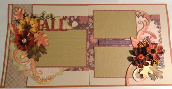 "12 x 12 Double Page Scrapbook Layout Kit ""WonderFall"""