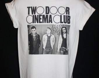 brand new * two door cinema club t-shirt indie foals bastille beacon vaccines festival  *  Available in Small, Medium, Large or XL.