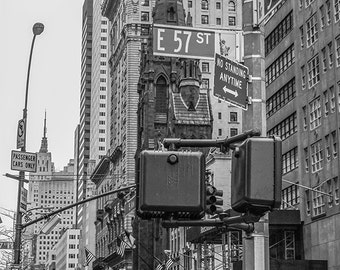 Zwart-wit fotografie, fine art photographyy, new york city, new york poster, skyline van new york, new york kunst, nyc afdrukken, woonkamer decor