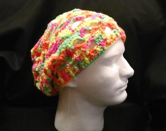 Crocheted skull cap