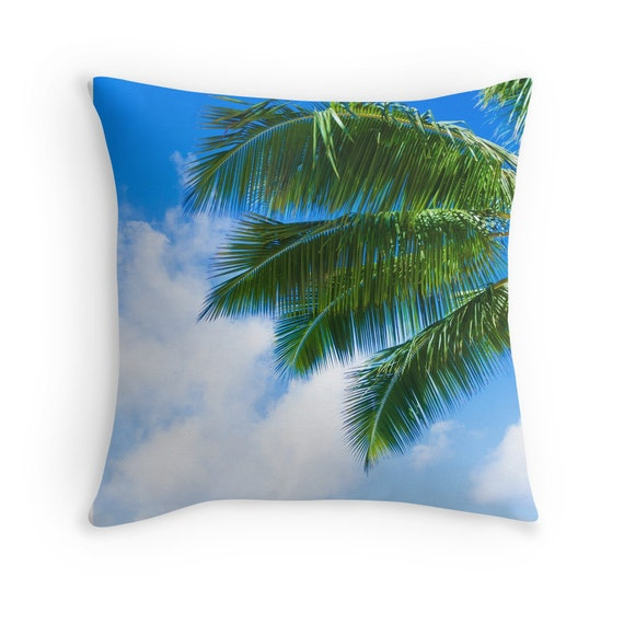 Palm Leaves cotton Throw Pillow cover Hawaiian pillow Beach