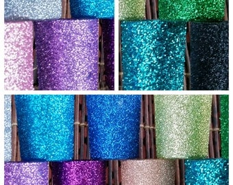 12 Glittered Votive Candle Holders