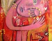 Believe, original painting by mitsib