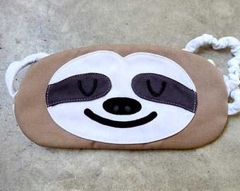 SLOTH Sleep Mask, Eye Mask, Sleeping Mask, Sleep Mask, BEIGE Sloth, Sloth Eye Mask, Sleeping Sloth, Beauty Sleep, Sloth Mask, Eyemask