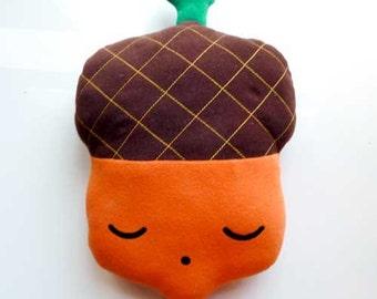 Acorn Plush Toy, Acorn Soft Toy, Acorn Pillow, Acorn Cushion, Huggable Acorn, Acorn doll, Acorn Toy, Nursery decor, Cot toy, Mighty Acorn