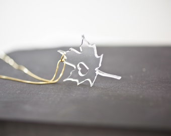 Canada Necklace - Clear Canada Leaf Necklace Maple Leaf Charm Gold Canada Necklace With Heart Tree Pendant