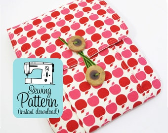 Idea Pouch PDF Sewing Pattern | Sewing Project to Make Journal or Notebook Cover | Sewing Instructions for Tablet Computer Sleeve
