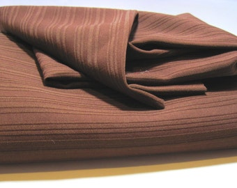 Chocolate Brown Polyester Ribbed Interlock