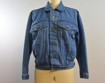 London Fog Denim Jacket | Vintage 70s 80s Jean Jacket | Boys Size Medium