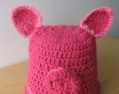 Precious Piggy Baby Hat, Hand Crocheted, American Made (each hat purchase benefits children with cancer)
