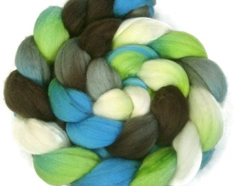 Handpainted Polwarth Wool Roving - 4 oz. METRO - Spinning Fiber