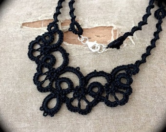Tatted Lace Necklace - The Twisted Ripple