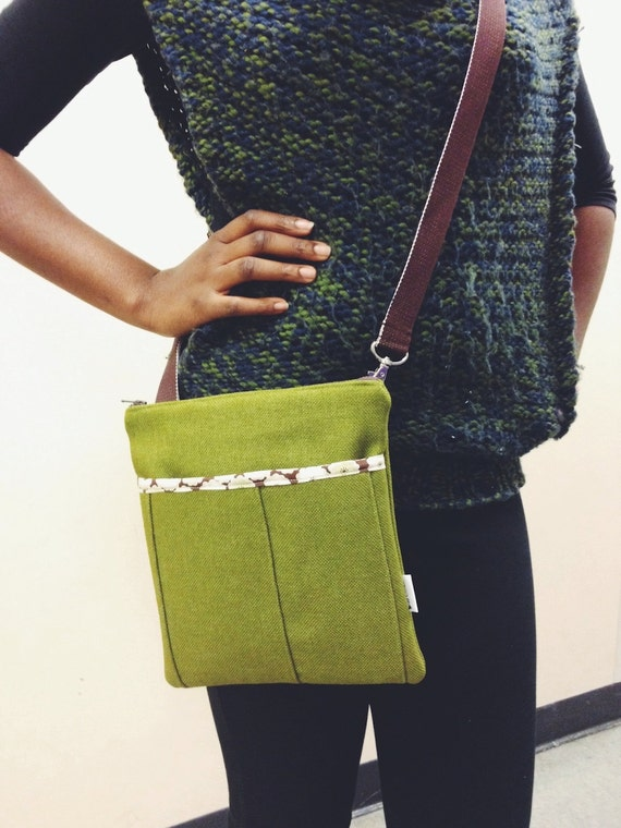 Ivy Green Toria Bella Messenger Bag, Ivy Green Mini Cross body Bag, Canvas Crossbody Bag, Ivy Green Purse, Small Messenger Bag