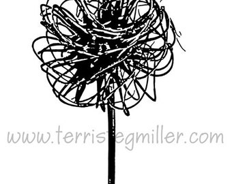 Thermofax Screen - Clematis Pom