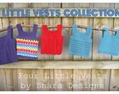 Little Vests Collection eBook PDF Digital Pattern Baby Download Crochet Handmade Toddler Child